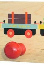 Wooden Train Coat Rack