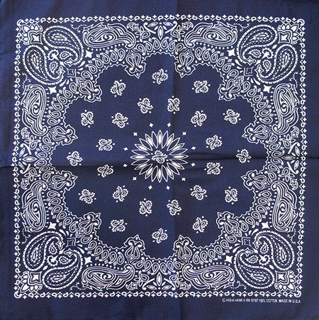 "Bandana, Navy 22"" Square"