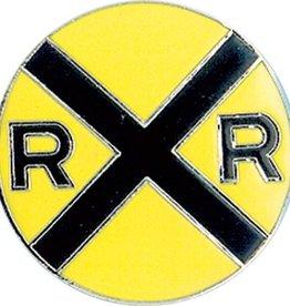 Hat Tacks (LARGE PINS) RR Crossing Yellow