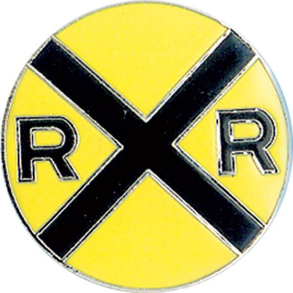 Hat Tacks (LARGE PINS) RR Crossing Yellow