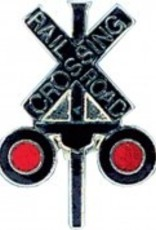 Tie Tack, RR Crossing (Smaller Pin) X SHAPE