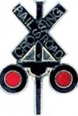 Tie Tack, RR Crossing (Smaller Pin) X SHAPE