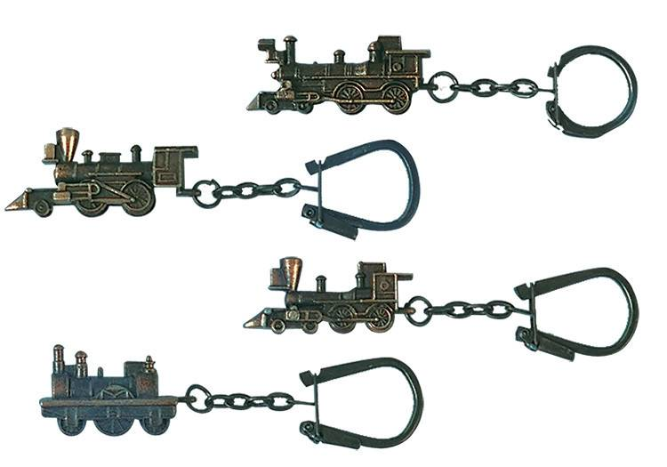 Key Chain Assort. Loco Bronze FInished