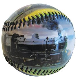 Glossy Trains Baseball w/Plastic Grandstand Cube