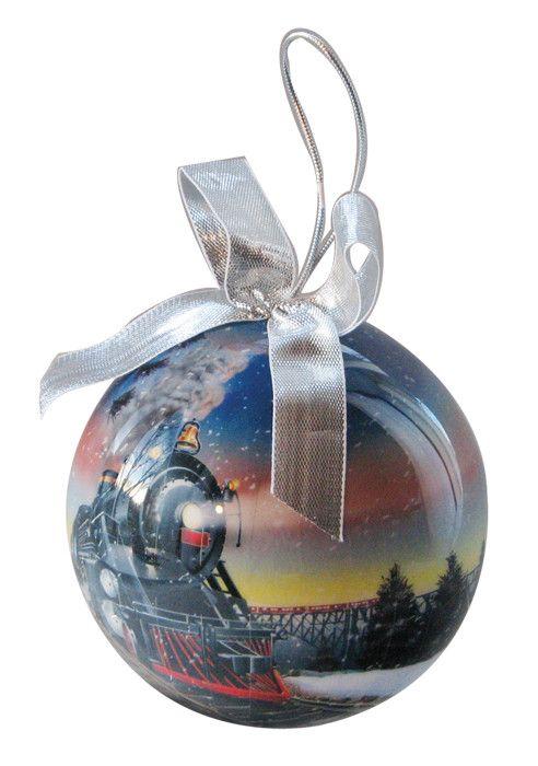 Decoupage Train Ornament