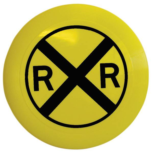 Rail Road Crossing Frisbee