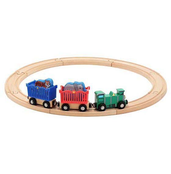 Zoo Animal Train Set