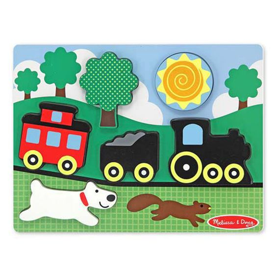 Chunky Puzzle Red Caboose Customized