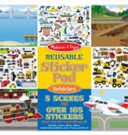 Melissa & Doug Reuseable Sticker Pad - Vehicles