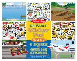 Melissa & Doug Reuseable Sticker Pad - Vehicles