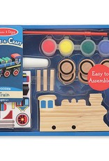 Melissa & Doug Create-a-craft Train Paint Set (Blue Box)