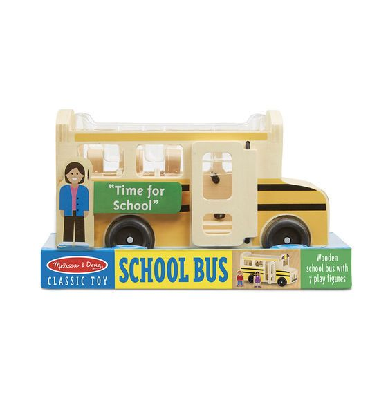 Melissa & Doug Classic Toy School Bus