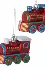 Glitter Steam Engine Ornament