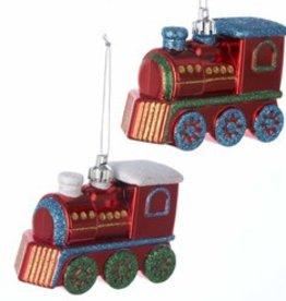 Glitter Steam Engine Ornament - Discontinued