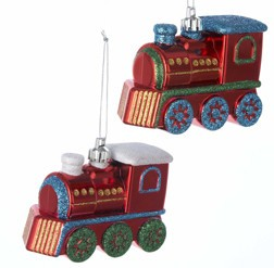 Glitter Steam Engine Ornament - Discontinued