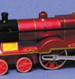 Born Rail Products Classic Train Pull Back Black, Red, Blue