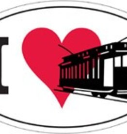 I Love Trolleys Bumper Sticker