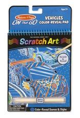 Melissa & Doug One the Go Scratch Art Vehicles Color-Reveal Pad