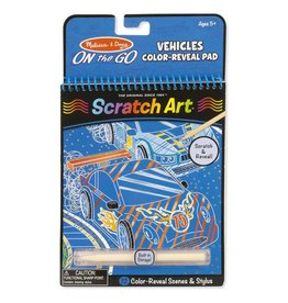 Melissa & Doug One the Go Scratch Art Vehicles Color-Reveal Pad
