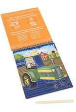 One the Go Scratch Art Vehicles Color-Reveal Pad