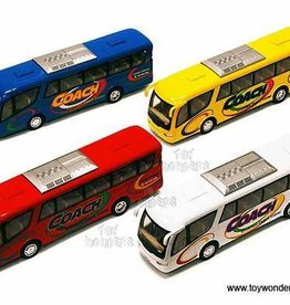 "Coach Bus 7""  Red White Blue Yellow ""COACH"""