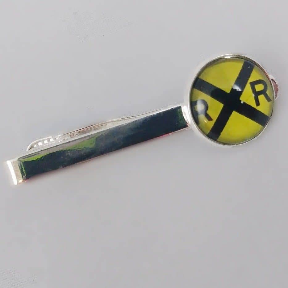RR Crossing Tie Clip