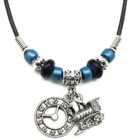 Train Clock Necklace