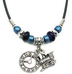 Train Clock Necklace