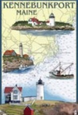 Lantern Press 4 x 6 Wooden Postcard Kennebunkport Nautical