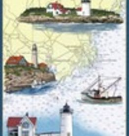 Wooden Postcard Kennebunkport Nautical