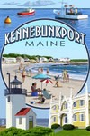 Wooden Postcard Kennebunkport Montage