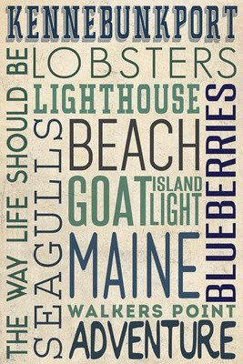 Kennebunkport Lined Journal - Typography