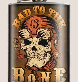 Bad to the Bone Flask