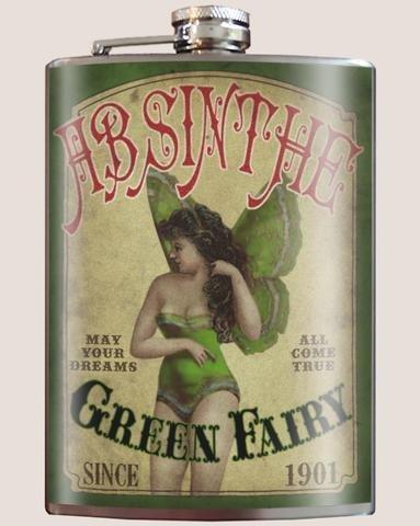 Trixie & Milo Green Fairy Flask