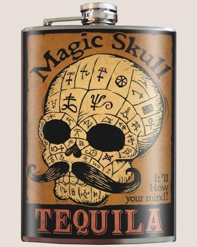 Trixie & Milo Magic Skull Flask