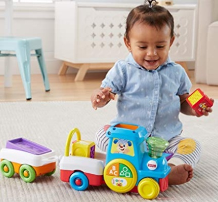 FIRST WORDS CRAWL-ALONG TRAIN Fisher Price Laugh & Learn
