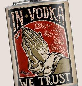 In Vodka We Trust Flask