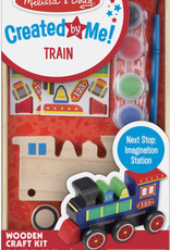 Melissa & Doug Created by Me! Wooden Train (Red Box)