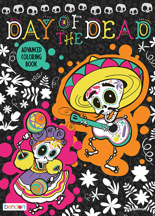 - Day Of The Dead Adult Coloring Books - SeashoreTrolleyMuseum