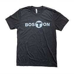 Adult Boston T logo T-Shirt Men's Black Medium