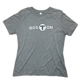 Adult Boston T logo T-Shirt Women's Gray Large
