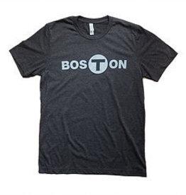 Adult Boston T logo T-Shirt Men's Black Small