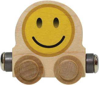 NAMETRAIN ACCESSORY CARS SMILE EMOJI ROUND CAR