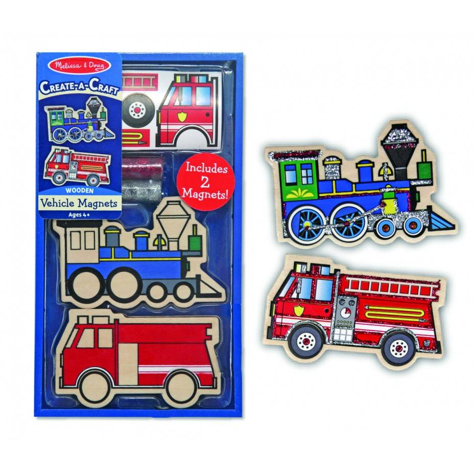 Melissa & Doug Vehicle Magnets Create-a-craft