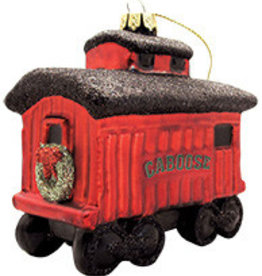 Glass Color Caboose Ornament