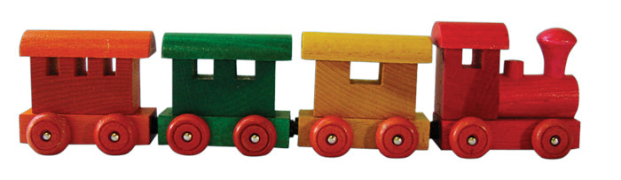 4 Piece Wooden Magnetic Train Set