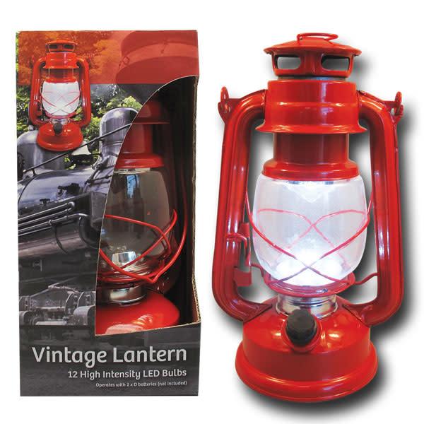 LED VINTAGE-STYLE METAL LANTERN