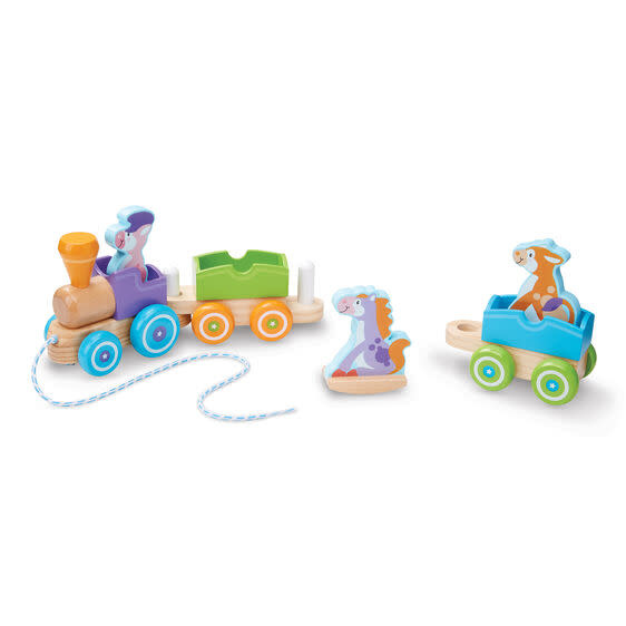 Rocking Farm Animals Pull Train