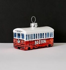 MBTA Red Line Glass Holiday Ornament (Boxed)