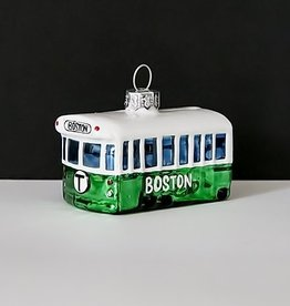 MBTA Green Line Glass Holiday Ornament (Boxed)